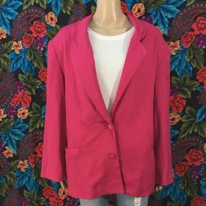WOMEN'S KORET PINK BLAZER JACKET COAT  SIZE XL